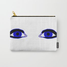 Two Blue Eyes Carry-All Pouch