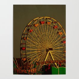 Pacific Park at sunset Poster