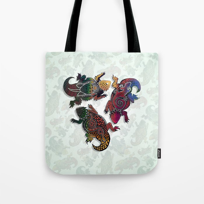 HORNED LIZARDS Tote Bag