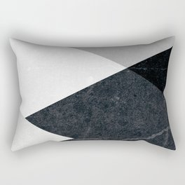 Geometrics - marble & silver Rectangular Pillow