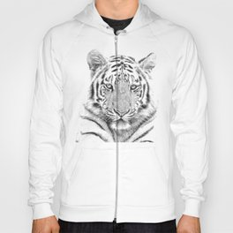 Black and white tiger Hoody
