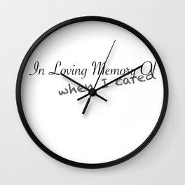 In Loving Memory Of... Wall Clock