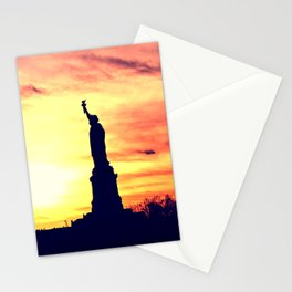 Lady of Liberty Silhouette Stationery Cards