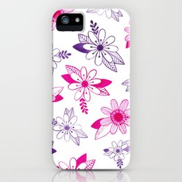 Daisy Ink Illustration iPhone Case