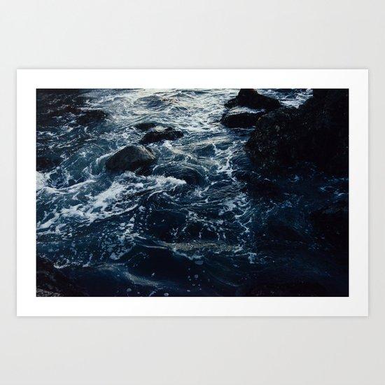 Salt Water Study Art Print