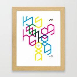 Number seven Framed Art Print
