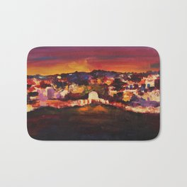 Jerusalem at Dawn Bath Mat
