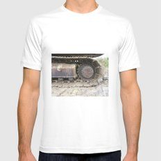Digger White MEDIUM Mens Fitted Tee