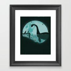 Encounter Under a Blue Moon Framed Art Print