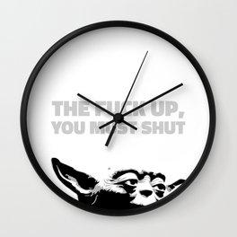 Yoda - The Fuck Up, You Must Shut Wall Clock