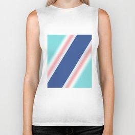Colorful diagonal stripes . Biker Tank