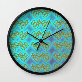 Oo - pattern 1 Wall Clock