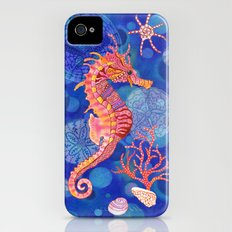 Seahorse in the Deep Blue iPhone (4, 4s) Slim Case