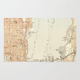 Vintage Map of Miami Florida (1950) Rug