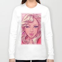 blondie Long Sleeve T-shirts featuring Hello Blondie! by JuicyBomb