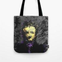 edgar allan poe Tote Bags featuring Edgar Allan Poe by brett66