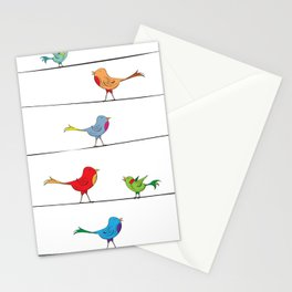 [ birds on wire ] Stationery Cards