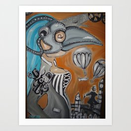 BUBONIC PLAGUE GIRL Art Print