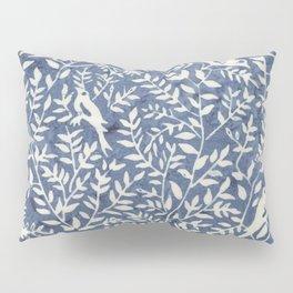 Wonderlust blue#Birds let's run away Pillow Sham