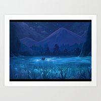 Bay of light Art Print