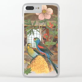 They had constructed their own garden from what they had Clear iPhone Case