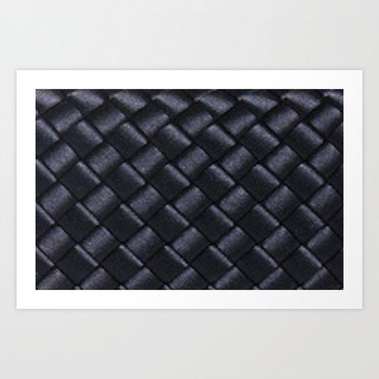Woven Black Art Print