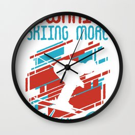 departure skiing winter snow skiing winter sports Wall Clock