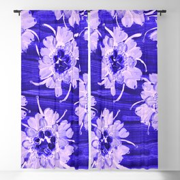 Blue Aspen Rose Blackout Curtain