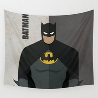 super hero Wall Tapestries featuring Hero by Loud & Quiet