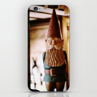 gnome iPhone & iPod Skins featuring A Gnome  by Regina Mountjoy