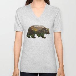 North American Brown Bear Unisex V-Neck