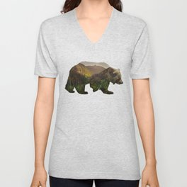 North American Brown Bear Unisex V-Neck