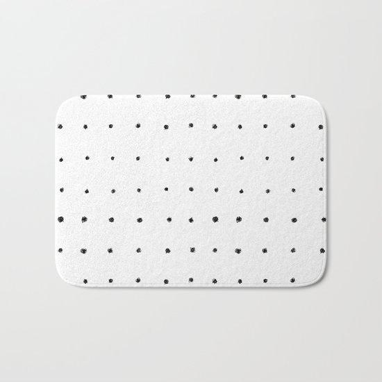 Dot Grid Black and White Bath Mat