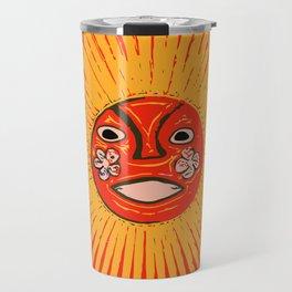The sun Huichol art Travel Mug