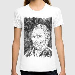 Van Gogh in black T-shirt