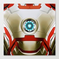 iron man Canvas Prints featuring IRON MAN Iron Man by Veylow