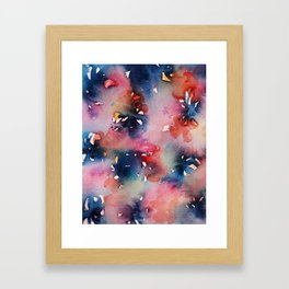 Pink Flowers Perfume Framed Art Print