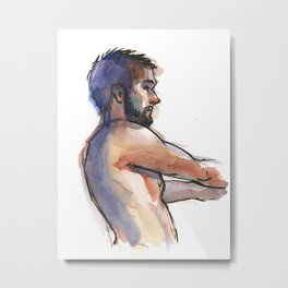 NATE, Semi-Nude Male by Frank-Joseph Metal Print