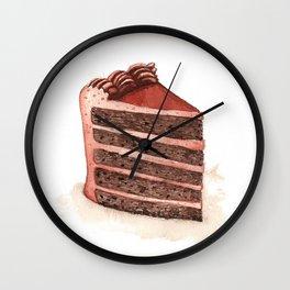 Chocolate Layer Cake Slice Wall Clock
