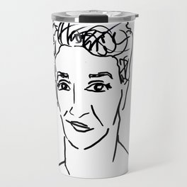 Rachel Maddow Outline Travel Mug