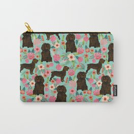 Boykin Spaniel custom dog breed floral pattern print by pet friendly dog art pet portraits Carry-All Pouch