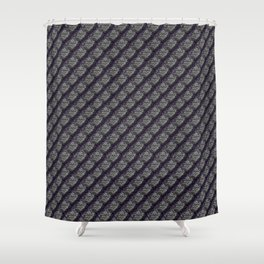 Elegant Steel Dragon Scale Shower Curtain
