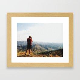 mountain over look Framed Art Print