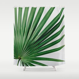 Palm Leaf Detail Shower Curtain