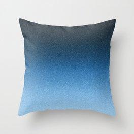 Frozen Ombre - Winter Blues Throw Pillow