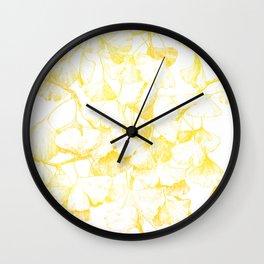 Ginkgo biloba (Autumn gold) Wall Clock