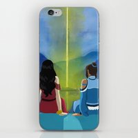 korrasami iPhone & iPod Skins featuring A Korrasami Moment by Nate Raia