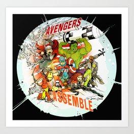 """Avengers Assemble! - a """"you're COLOR"""" promo Art Print"""