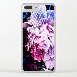 Unicorn Flowers Clear iPhone Case