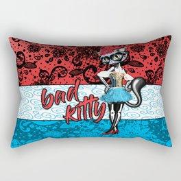 Día de los Muertos Bad Kitty Rectangular Pillow